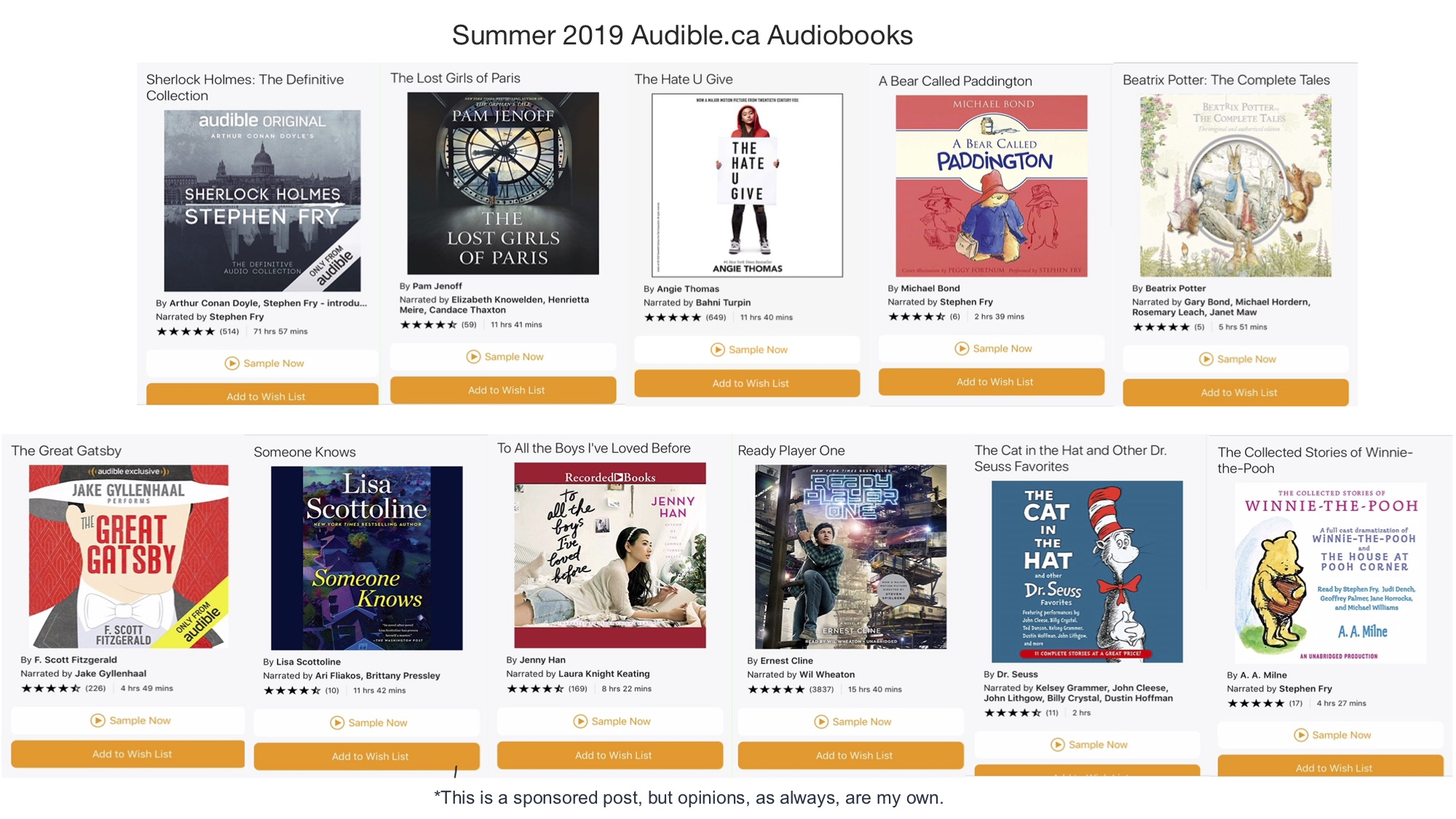 Summer 2019 Audible.ca Audiobooks